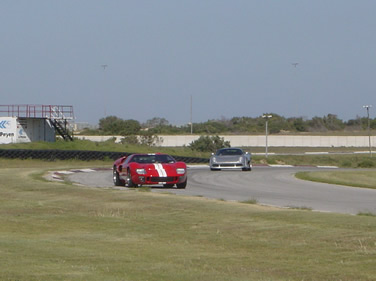Dennis test driving the first GT-40 in South Africa